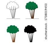 vector  isolated  tree... | Shutterstock .eps vector #1738019453
