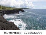 Volcanic Coastal Cliffs With...