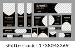 set of abstract web banners of... | Shutterstock .eps vector #1738043369