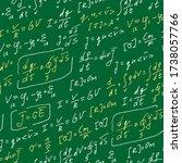 physics formulas handwritten... | Shutterstock .eps vector #1738057766