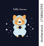 nursery print with cute dog.... | Shutterstock .eps vector #1738062593