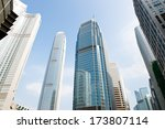 modern business buildings  shot ... | Shutterstock . vector #173807114