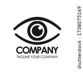 vision logo design. vector logo ... | Shutterstock .eps vector #1738075169
