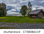 A Large Wooden House Is Used T...