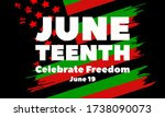 juneteenth freedom day. african ... | Shutterstock .eps vector #1738090073