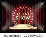 talent show vector poster... | Shutterstock .eps vector #1738094390
