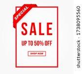 vector illustration of a sale... | Shutterstock .eps vector #1738095560