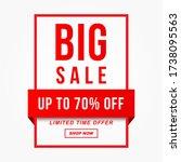 vector illustration of a sale... | Shutterstock .eps vector #1738095563
