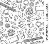 italian pasta seamless pattern. ...   Shutterstock .eps vector #1738102556