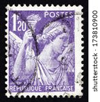 france   circa 1944  a stamp... | Shutterstock . vector #173810900