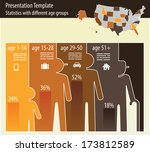 presentation for different age... | Shutterstock .eps vector #173812589
