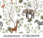 tropical vintage botanical... | Shutterstock .eps vector #1738130459