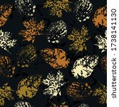 autumn leaves. cute pattern of... | Shutterstock .eps vector #1738141130