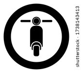 Scooter Motorcycle Motobike Delivery concept Moped Shipping icon in circle round black color vector illustration flat style image