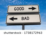 Good Vs Bad. White Two Street...