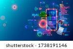 mobile website development... | Shutterstock .eps vector #1738191146