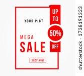 vector illustration of a sale... | Shutterstock .eps vector #1738191323