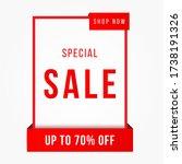 vector illustration of a sale... | Shutterstock .eps vector #1738191326