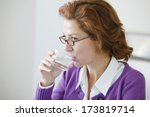 thirsty woman | Shutterstock . vector #173819714
