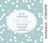 wedding invitation card | Shutterstock .eps vector #173822450