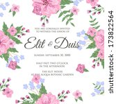 wedding invitation card | Shutterstock .eps vector #173822564