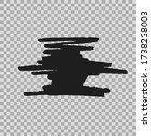 black sharpie trace on... | Shutterstock .eps vector #1738238003