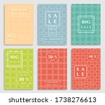 sale banners  flyers with... | Shutterstock .eps vector #1738276613