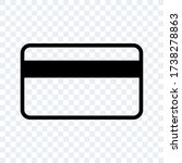simple credit card icon vector...   Shutterstock .eps vector #1738278863