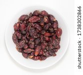 Dried Wild Rose Fruit In White ...