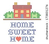 home sweet home embroidery ... | Shutterstock .eps vector #173831276