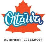 ottawa city. vector design of... | Shutterstock .eps vector #1738329089