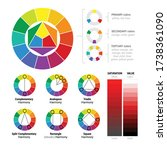 color theory substractive and... | Shutterstock .eps vector #1738361090