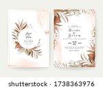 floral background card. wedding ... | Shutterstock .eps vector #1738363976
