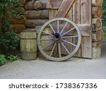 The Old Wooden Wheel From A...