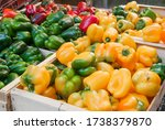 Piles Of Bell Peppers At A...