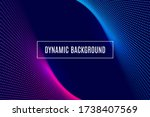 dynamic abstract background... | Shutterstock .eps vector #1738407569