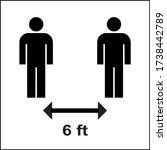 social distancing 6 ft keep... | Shutterstock .eps vector #1738442789