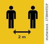 social distancing 2 m. keep... | Shutterstock .eps vector #1738445519