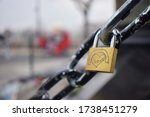 A Single Padlock Engraved With...