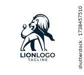 simple minimalist wild lion...   Shutterstock .eps vector #1738457510