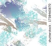 splatter brush stroke surface.... | Shutterstock .eps vector #1738460870