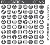 education icons | Shutterstock .eps vector #173846498