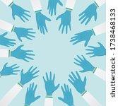 group of doctor hand wearing... | Shutterstock .eps vector #1738468133