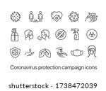 coronavirus protection campaign ... | Shutterstock .eps vector #1738472039