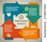 modern design style infographic ... | Shutterstock .eps vector #173847404