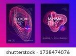 music poster. dynamic gradient... | Shutterstock .eps vector #1738474076