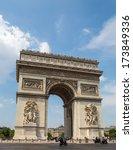 arc de triomphe in paris   Shutterstock . vector #173849336