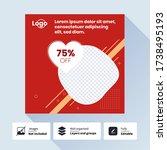 social media post design... | Shutterstock .eps vector #1738495193