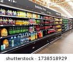 Small photo of Nicolas Romero, Estado de Mexico, Edo. Mex. / Mexico - 03 03 2020: Chedraui Supermarket inner cold drinks, showing clamato, ciel water, penafiel ginger, schweppers ginger ale, ocean spray among others