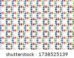 round multi colored box shapes... | Shutterstock .eps vector #1738525139